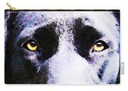 Black Labrador Retriever Dog Art - Lab Eyes Carry-all Pouch by Sharon Cummings