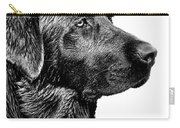 Black Labrador Retriever Dog Monochrome Carry-all Pouch