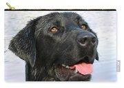 Black Labrador Retriever Dog Smile Carry-all Pouch