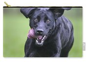 Black Labrador Running Carry-all Pouch