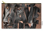 Black Labrador Typography Artwork Carry-all Pouch