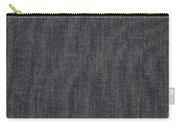 Black Linen Texture Carry-all Pouch