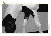 Black N White Horse Carry-all Pouch
