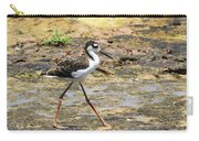 Black Neck Stilt Chick Eats And Eats Carry-all Pouch