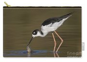 Black Necked Stilt With Fish Carry-all Pouch
