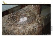 Black Phoebe Nest With Eggs Carry-all Pouch