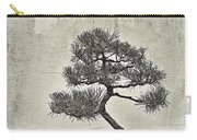Black Pine Bonsai In Monochrome Carry-all Pouch