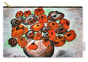 Black Poppies Carry-all Pouch by Ramona Matei