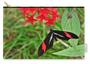 Black Red And White Butterfly Carry-all Pouch