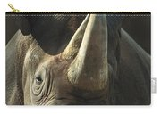 Black Rhinoceros Portrait Carry-all Pouch