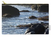 Black Rocks And Sea  Carry-all Pouch