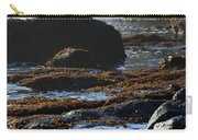 Black Rocks Lichen And Sea  Carry-all Pouch