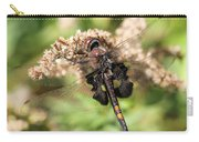 Black Saddlebags Dragonfly At Rest Carry-all Pouch