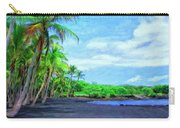 Black Sand Beach At Punaluu Carry-all Pouch