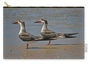 Black Skimmers On The Beach Carry-all Pouch