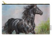 Black Stallion Carry-all Pouch by David Stribbling