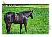 Black Stallion In Pasture Carry-all Pouch