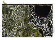 Black Sunflower Skull Carry-all Pouch by Lovejoy Creations