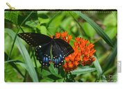 Black Swallow Tail On Beautiful Orange Wildlflower Carry-all Pouch