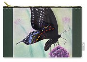 Black Swallowtail Butterfly By George Wood Carry-all Pouch