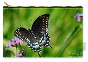 Black Swallowtail Butterfly In Garden Carry-all Pouch