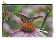 Black Swallowtail On Cone Flower Carry-all Pouch