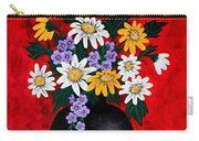 Black Vase With Daisies Carry-all Pouch