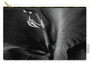 Black Velvet Gladiolia Flower Carry-all Pouch by Jennie Marie Schell