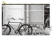 Black Vintage Bicycle Carry-all Pouch by Jimmy Karlsson