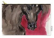 Black Wild Horse Carry-all Pouch