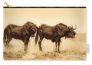 Black Wildebeest-africa V2 Carry-all Pouch