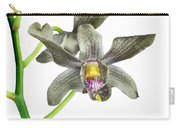 Black Yellow And Purple Orchid Carry-all Pouch