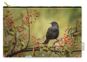 Blackbird On Branch Carry-all Pouch
