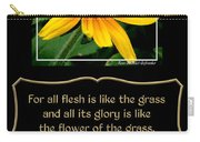 Blackeyed Susan With Bible Quote From 1 Peter Carry-all Pouch