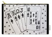 Blackjack Black And White Carry-all Pouch