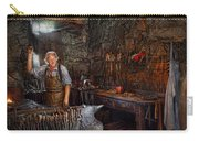 Blacksmith - Working The Forge  Carry-all Pouch by Mike Savad