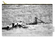 Black And White Of Old Farm Equipment Carry-all Pouch