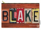 Blake License Plate Name Sign Fun Kid Room Decor Carry-all Pouch
