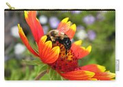 Blanket Flower And Bumblebee Carry-all Pouch