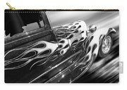 Blazing A Trail - Ford Model A 1929 In Black And White Carry-all Pouch