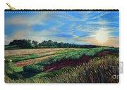 Blazing Sun On Farmland Carry-all Pouch