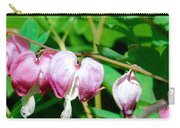 Bleeding Hearts In A Row Carry-all Pouch