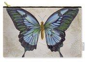 Bleu Papillon-a Carry-all Pouch