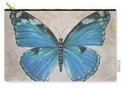 Bleu Papillon-b Carry-all Pouch