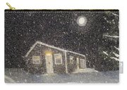 Blizzard At The Cabin Carry-all Pouch by Barbara Griffin