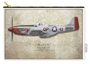 Blondie P-51d Mustang - Map Background Carry-all Pouch