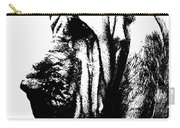 Bloodhound - It's Black And White - By Sharon Cummings Carry-all Pouch