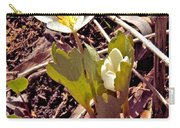 Bloodroot Reaching For The Spring Sun Carry-all Pouch