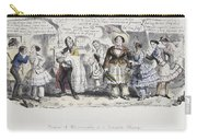 Bloomer Cartoon, C1851 Carry-all Pouch