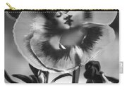 Bloomin' Kiss Vintage Art Bw Carry-all Pouch